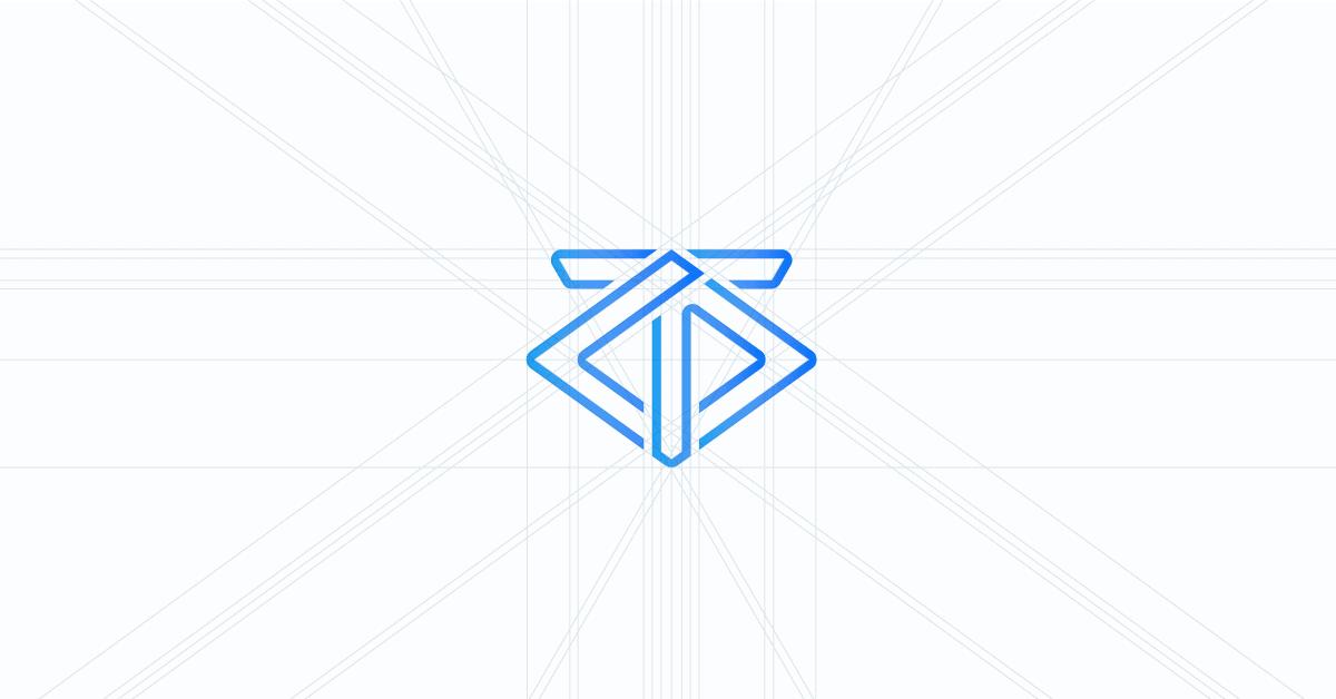 Griglia di costruzione logo Claudio Troisi Designer