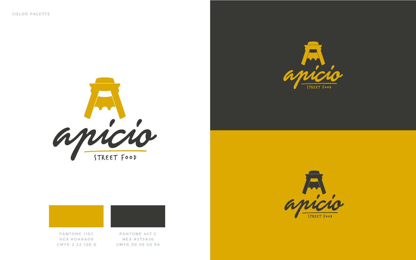 Apicio Street Food Logo Color Palette