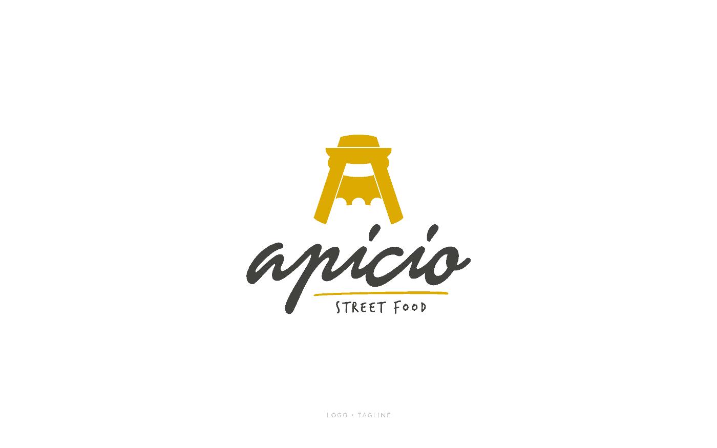 Apicio Street Food Logo Tagline