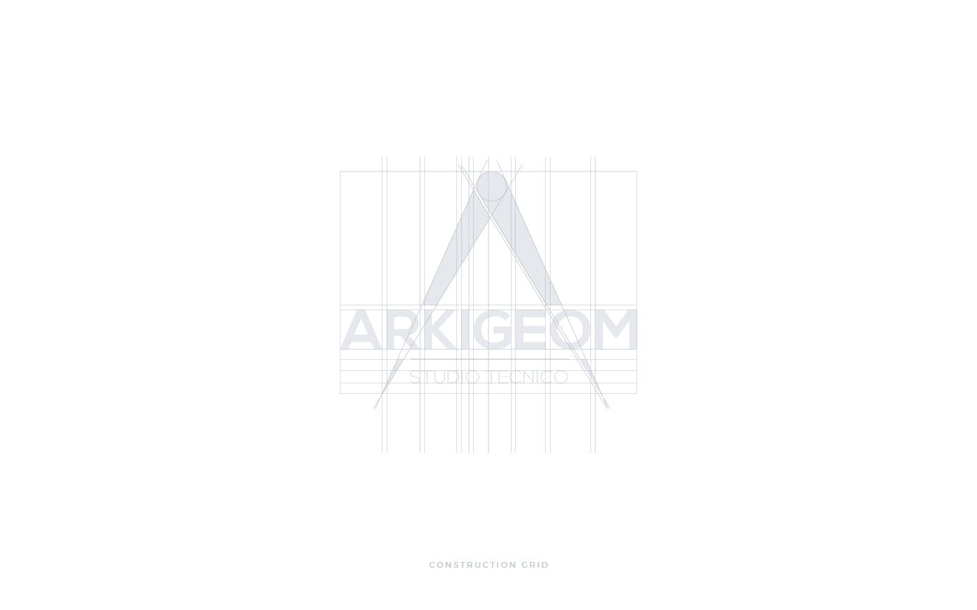Studio tecnico Arkigeom griglia costruzione logo