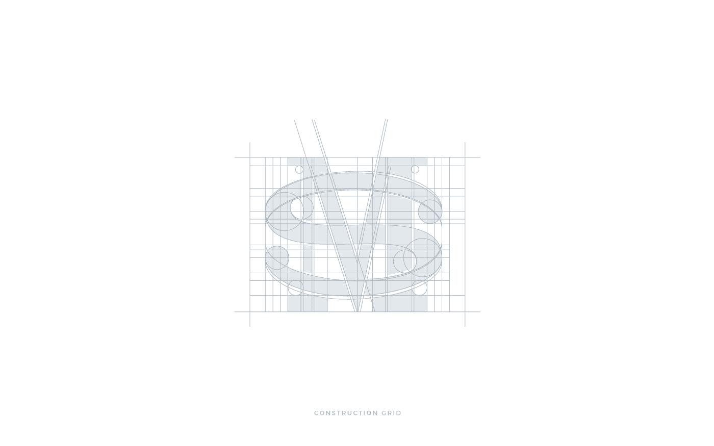 Monogramma M+S Griglia di costruzione