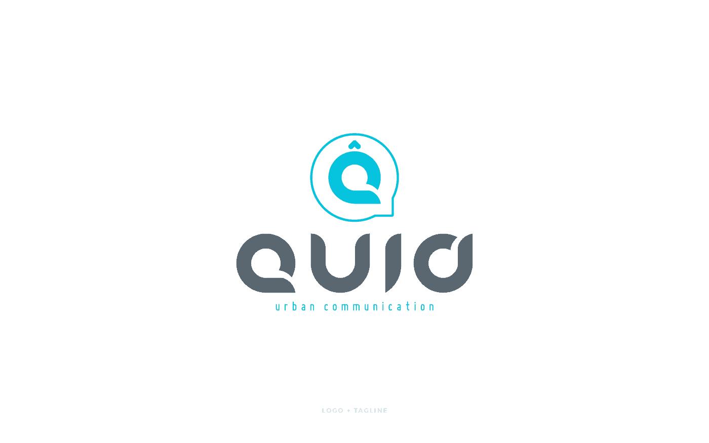 Quid Urban Communication logo tagline