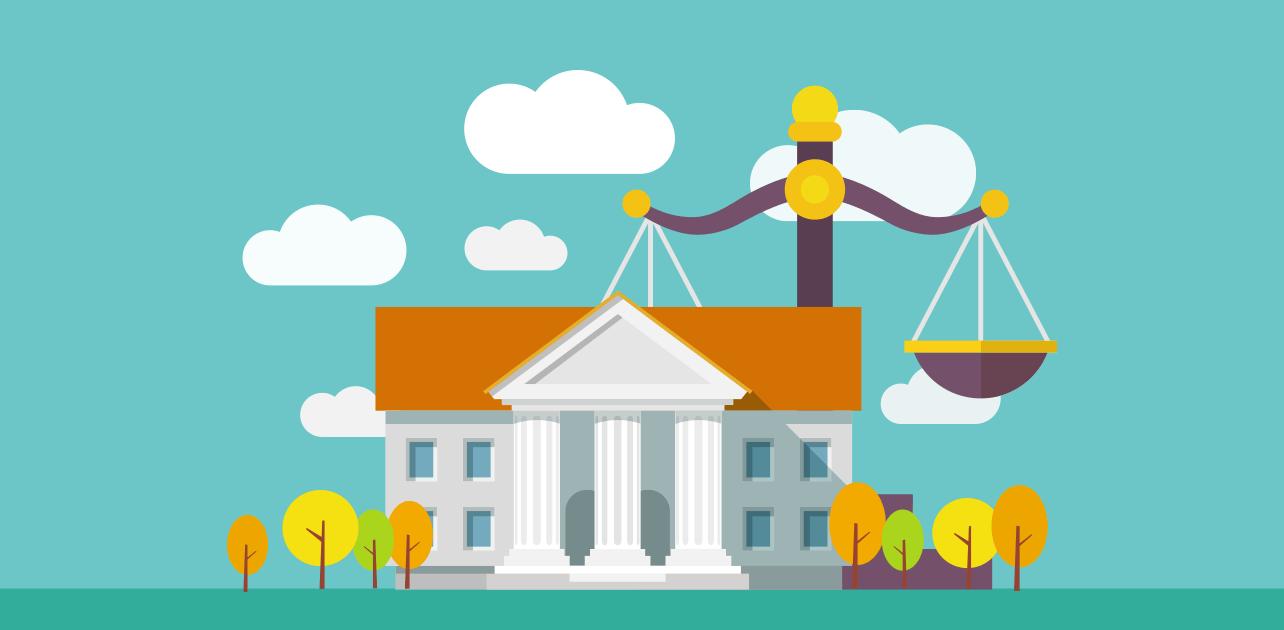 Azione legale tribunale  cliente moroso