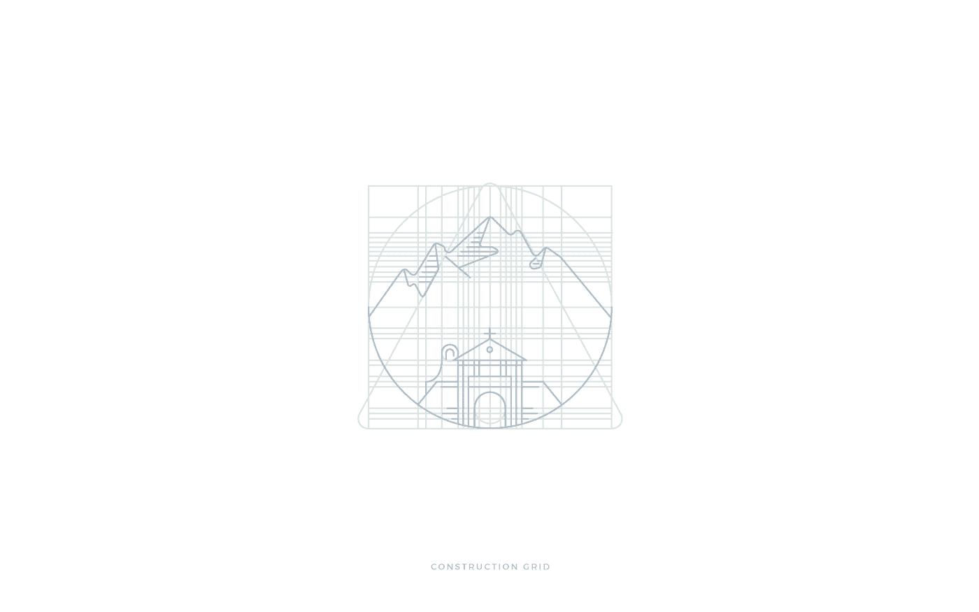 Peschium griglia costruzione logo