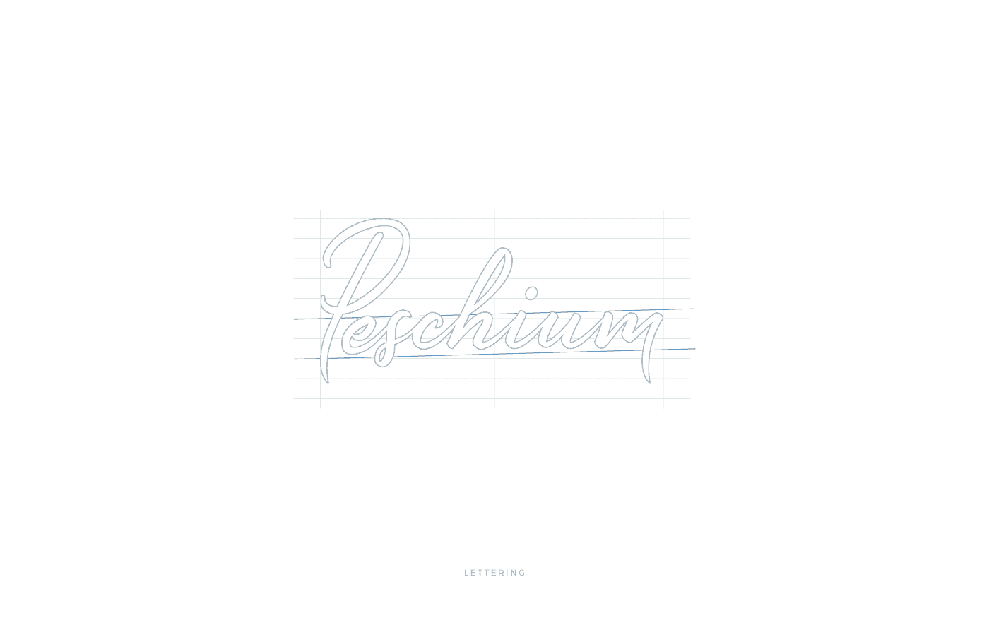 Peschium logo lettering