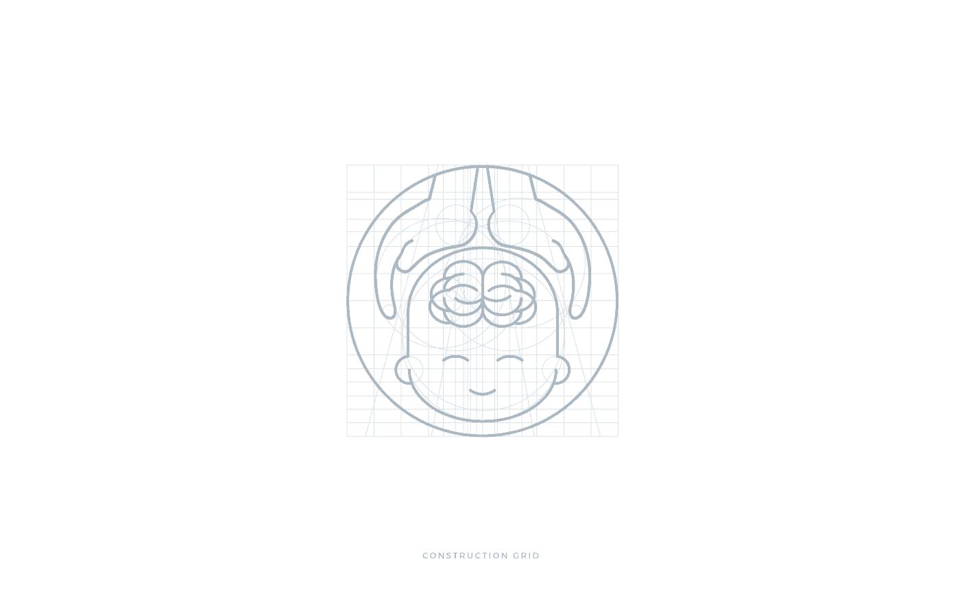 IAOPN griglia costruzione pittogramma logo