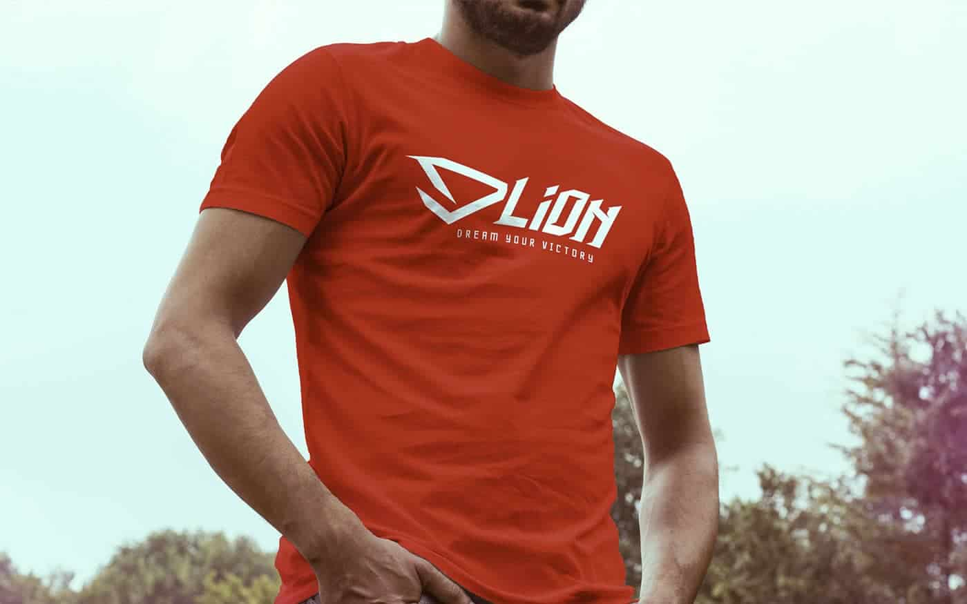 DLION mockup t-shirt