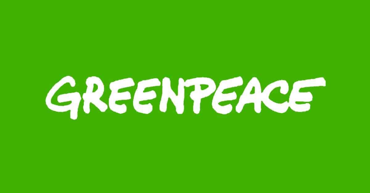 Psicologia del colore verde - Logo Greenpeace