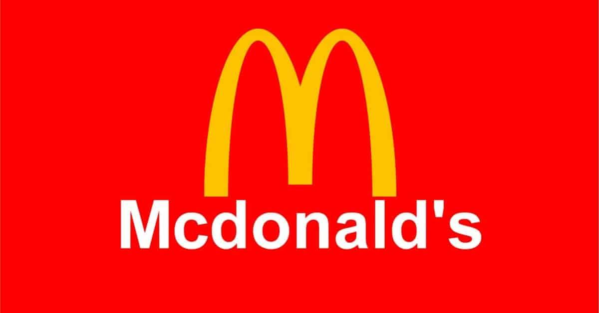 Psicologia del colore rosso - Logo McDonald's