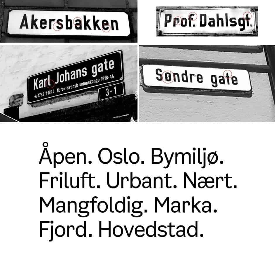 Comune Oslo font