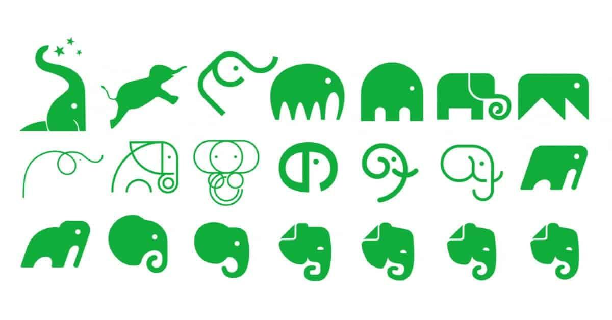 Evernote - Prove elefante nuovo logo